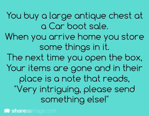 Antique chest.