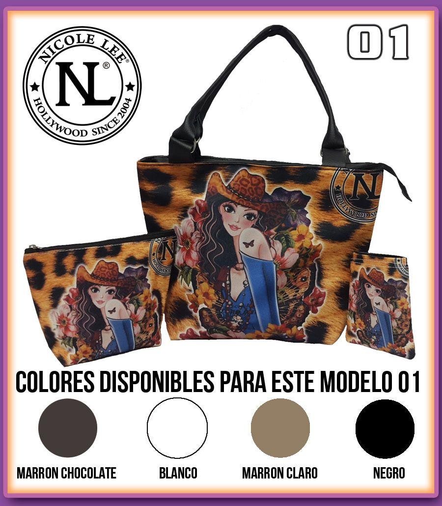 Cartera De Nicole Lee 3en1 Porta Cosmetico, Forro De Celular - Bs. 4.200,00 en MercadoLibre