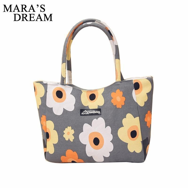 Casual Tote Shoulder  Zipper hand Bags For Women Floral  Canvas Large Capacity