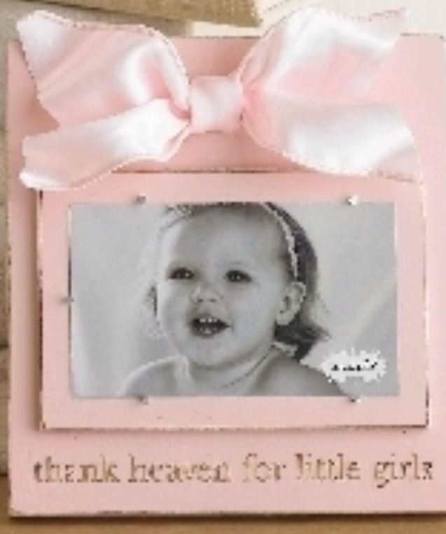 Mud Pie Baby Girl Thank Heaven For Little Girls Pink Blush Frame