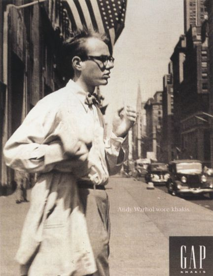Andy warhol 1993 gap campaign fashion campaign pinterest one of my favorite ad campaigns of all time gap 1993 andy warhol wore khakis publicscrutiny Gallery