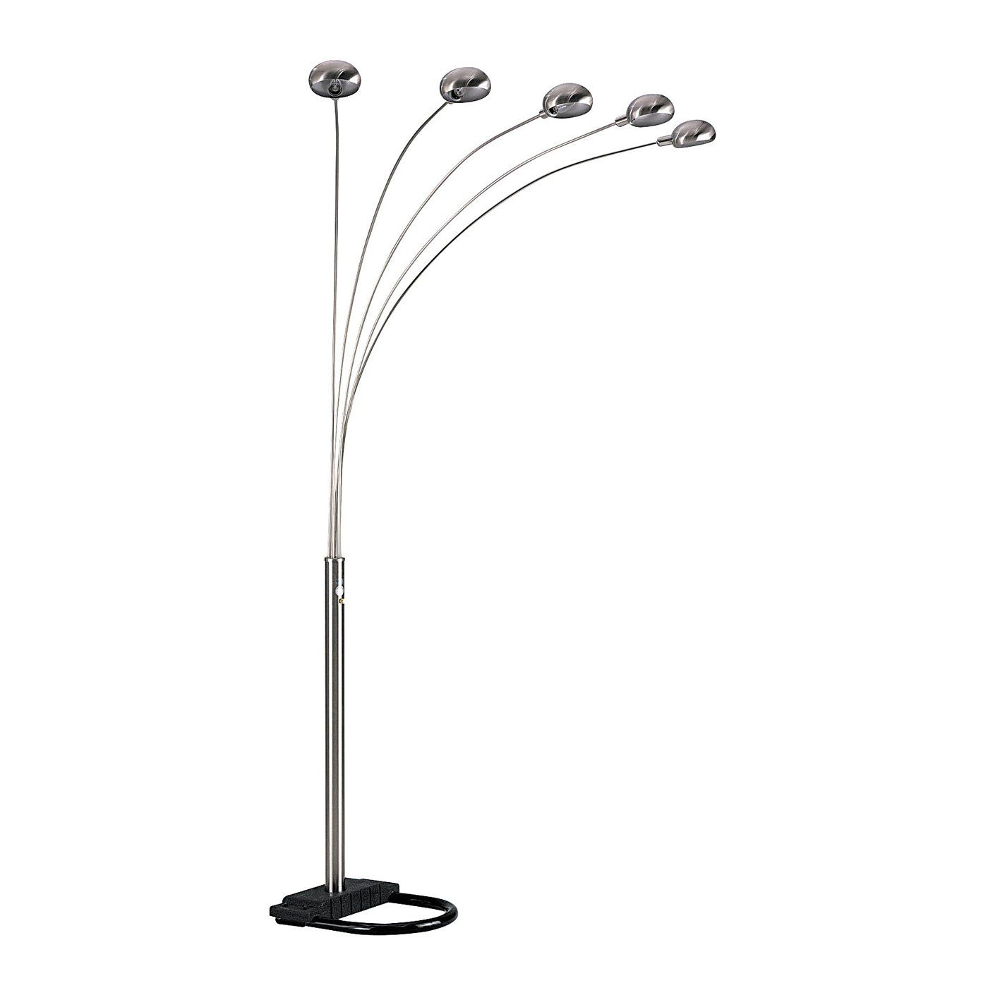Ore International 6962 Five Arms Arch Floor Lamp Atg Stores Arched Floor Lamp Nickel Floor Lamp Black Floor Lamp