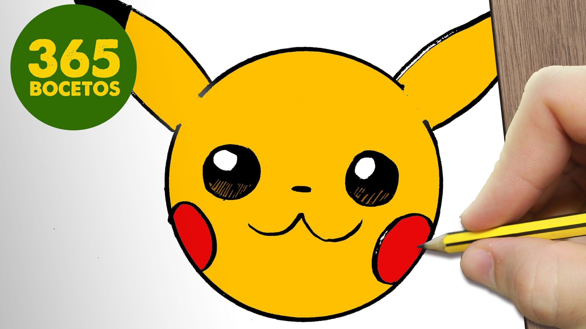 Como dibujar pikachu emoticonos whatsapp kawaii paso a - Smiley a dessiner ...