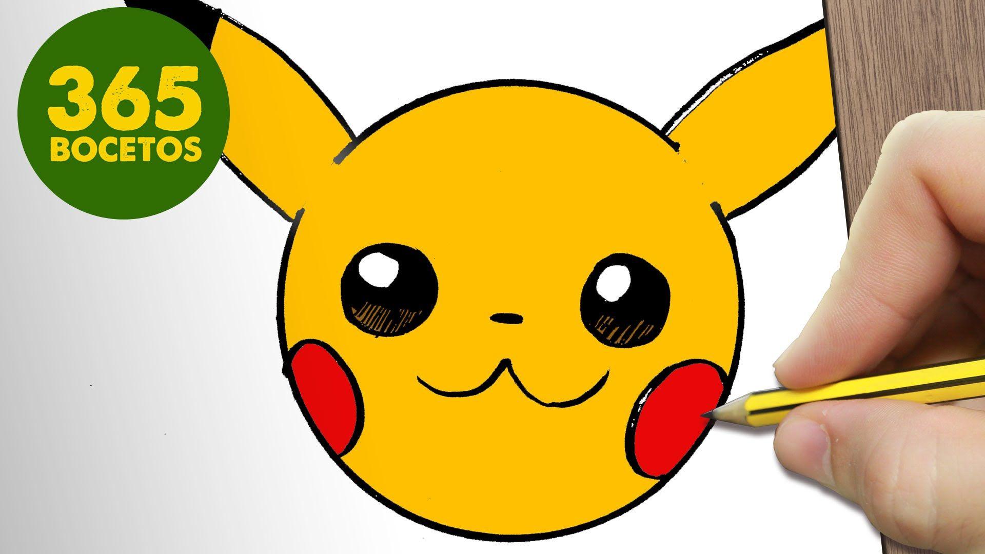 Como Dibujar Pikachu Emoticonos Whatsapp Kawaii Paso A Paso