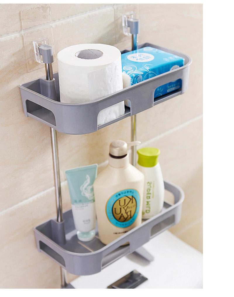 1 2 3 Layer Plastic Bathroom Shelf Toilet Washroom Organizer Decor Interior Inc Shower Shelves Bathroom Storage Organization Washroom Organization [ 1013 x 800 Pixel ]