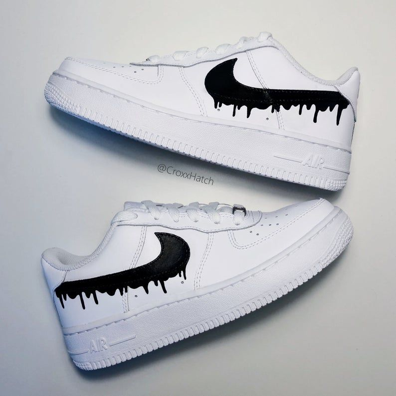 Dripping Paint Air Force 1 Sneakers personnalisés