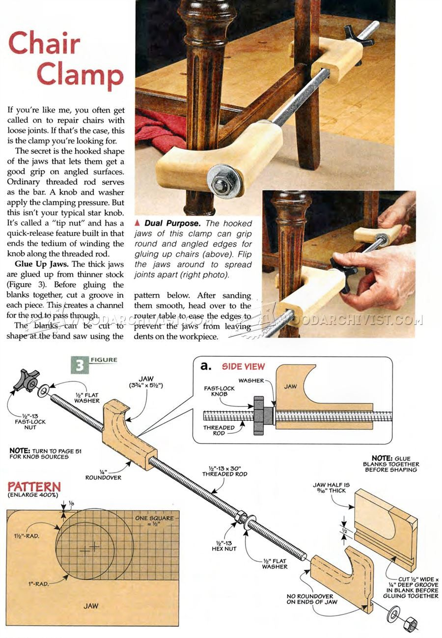 Awesome DIY Chair Clamp   Clamp And Clamping Tips, Jigs And Fixtures |  WoodArchivist.com
