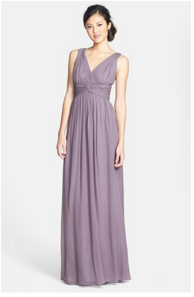 Bridesmaid Dress In Lilac Http Nordstrom S Donna Morgan Julie Twist Waist Silk Chiffon Gown 3420745 Origin Category Baseurl Dresses