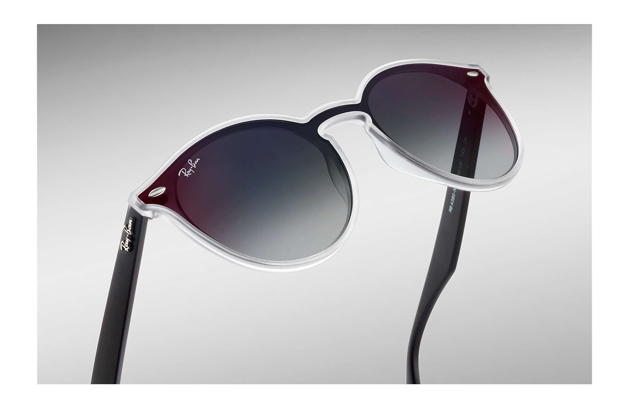 4c2f7eca26 Ray-Ban 0RB4380N-BLAZE RB4380N Transparent  Black SUN