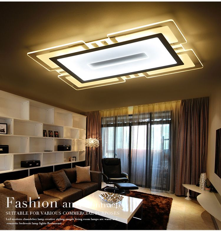 Ultra Thin Rectangular Atmosphere Simple Modern Creative Led Ceiling Light Led Ceiling Light Small Bedroom Ceiling Light Ceiling Lights Ceiling Design Bedroom