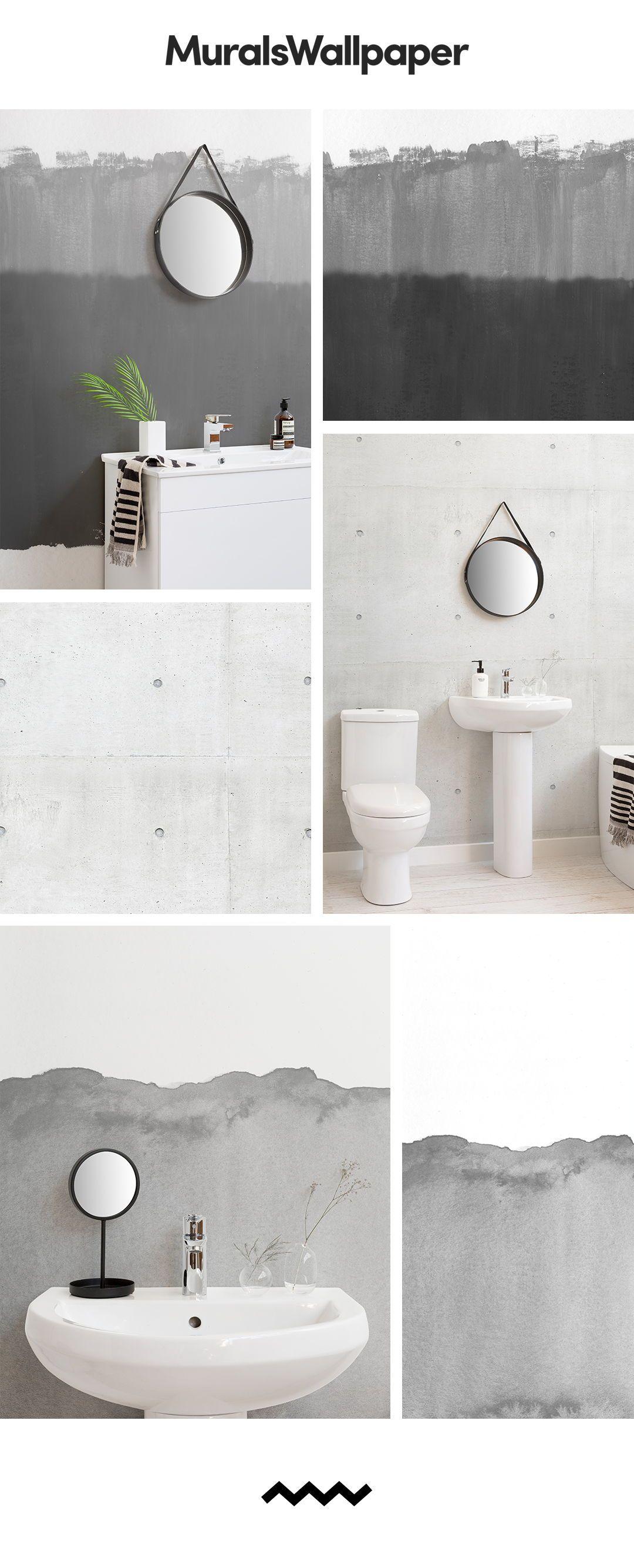 Create a super slick and modern bathroom space with modern grey