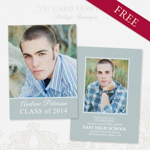 Free Senior Graduation Announcement Template for Photographers http ...