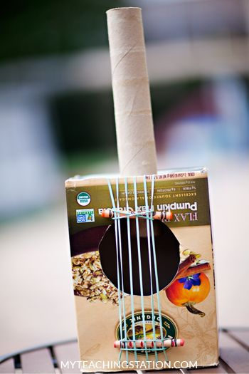 How To Make A Simple Cereal Box Guitar For Kids Summer