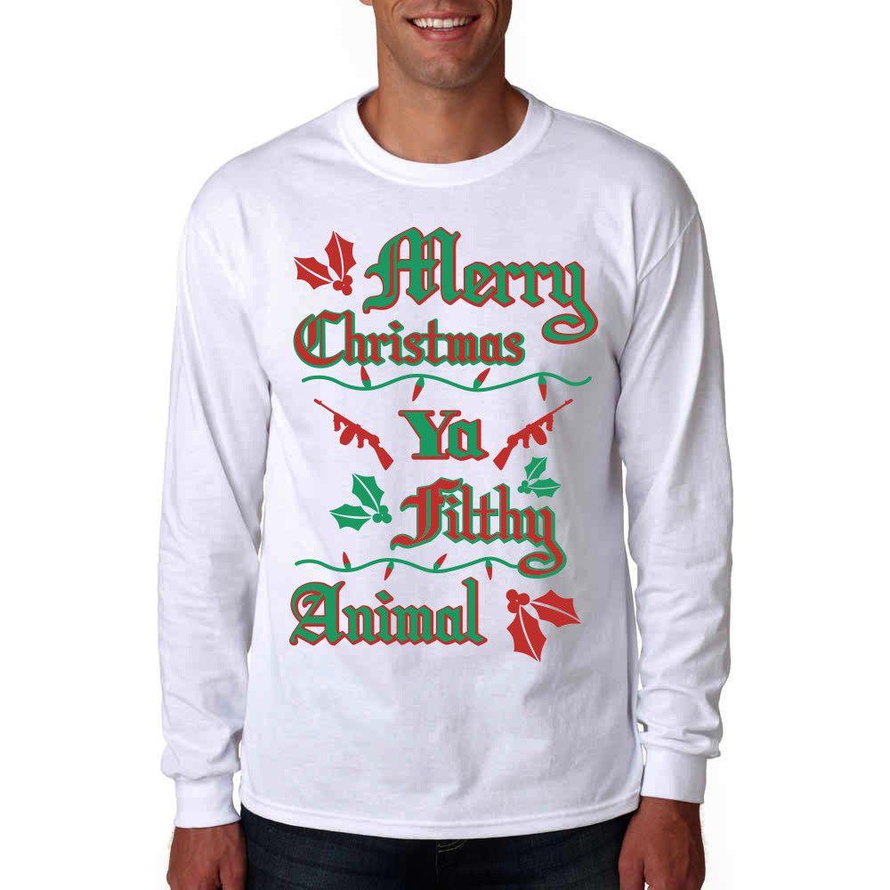18++ Merry christmas ya filthy animal shirt images