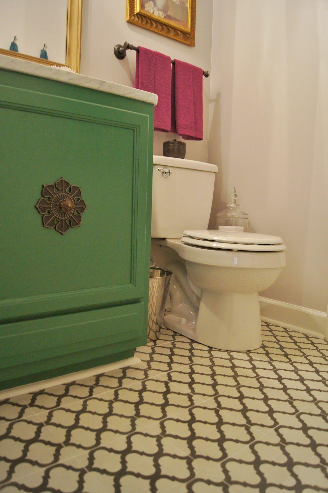 Salamanca Moorish style cement tile bathroom installation Villa