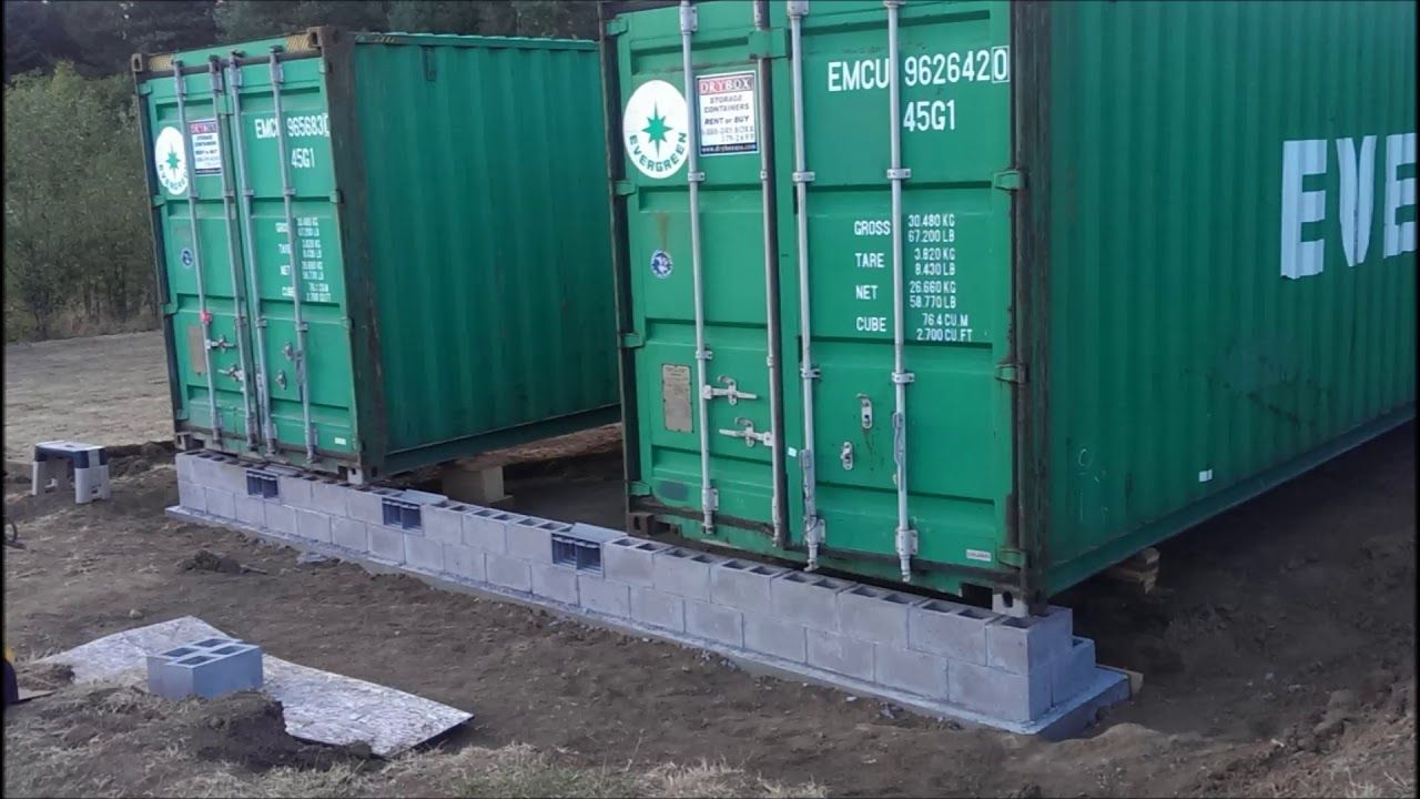Conex Shipping Container Foundation - YouTube   Shipping ...