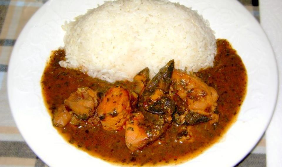Sauce feuille ou kplala ingr dients 10 personnes viande de b uf pied de porc fum crabe - Sauce pour viande rouge grillee ...
