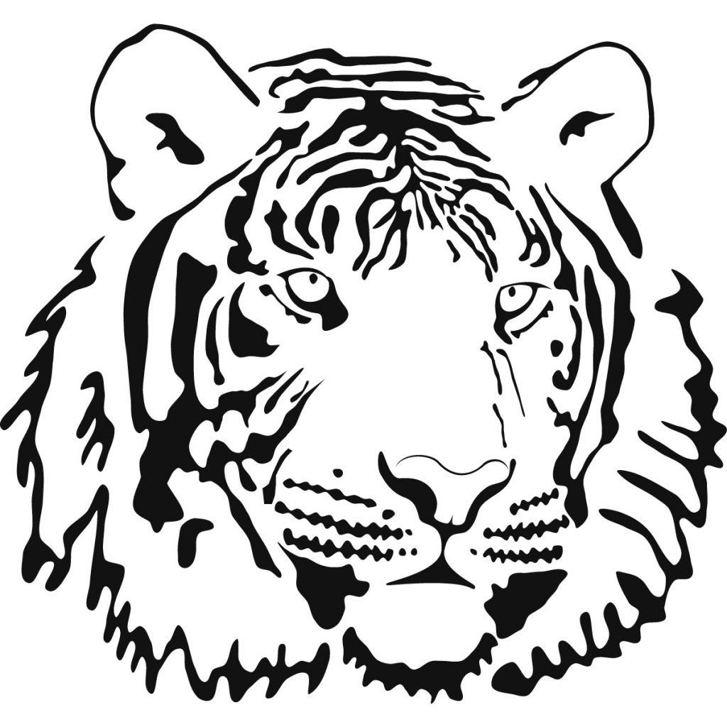 Tiger Face Line Drawing Tiger Face Line Drawing Tiger Face ...