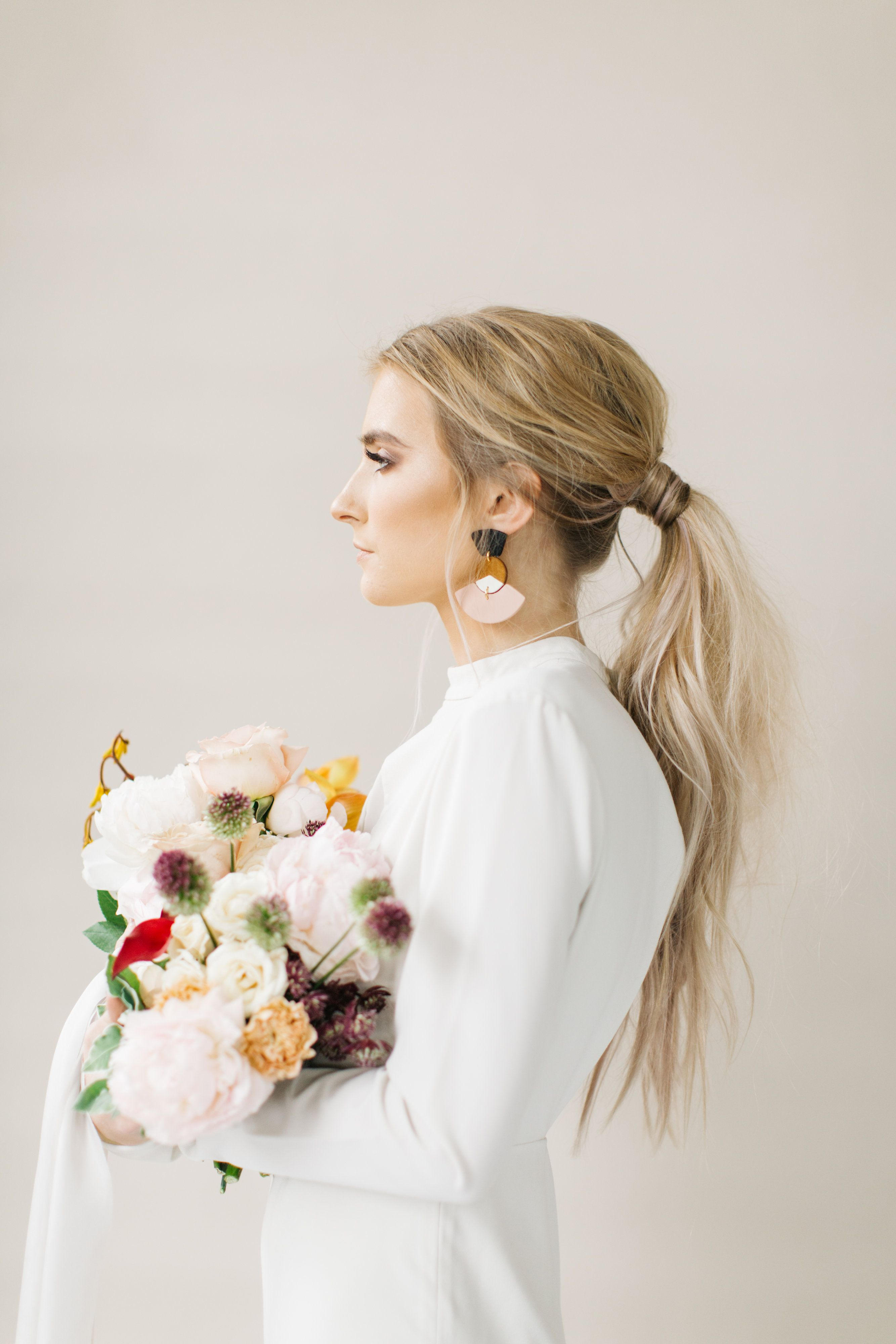 Rachael Ellen Events Modern Romance Bridal ponytail