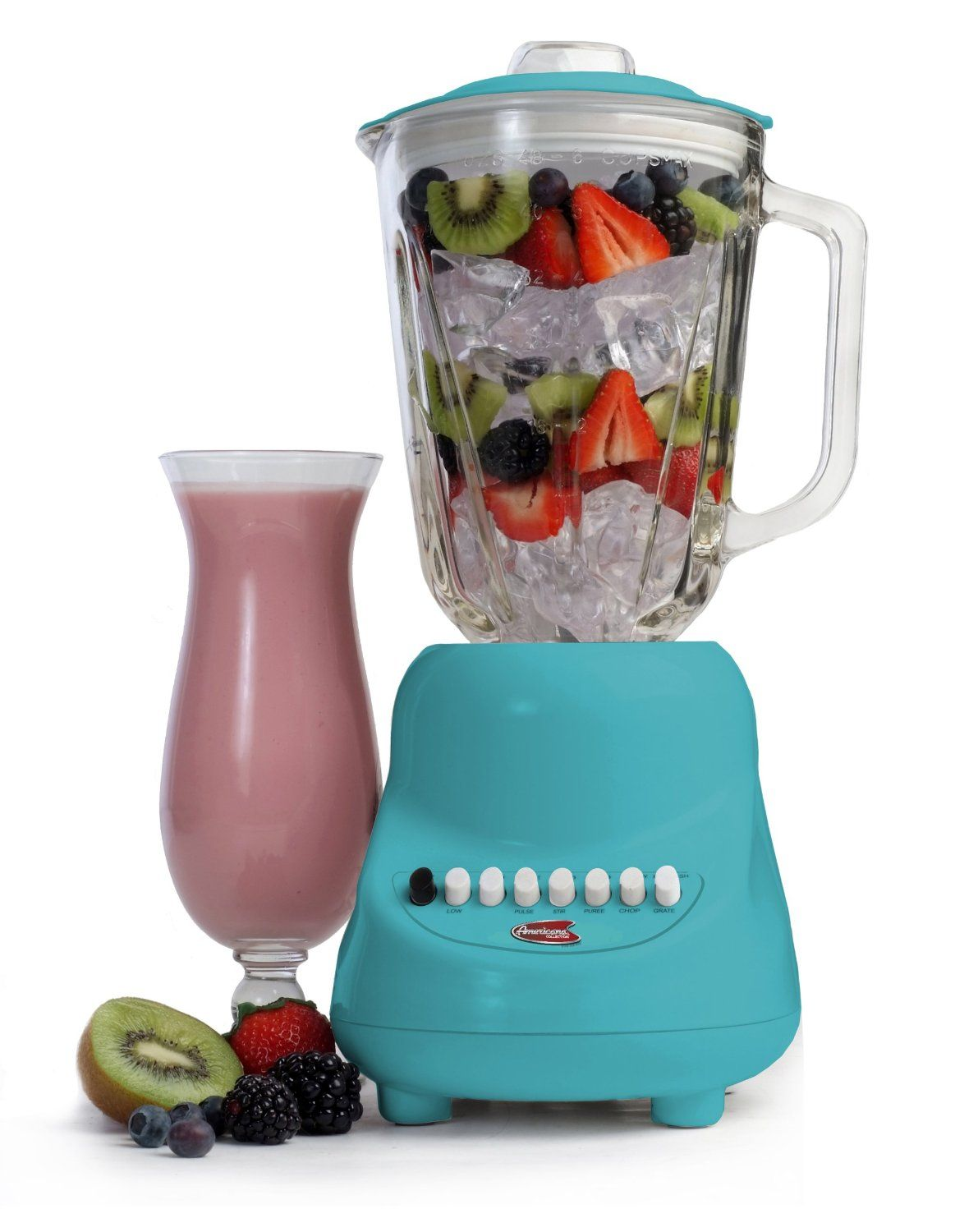 MaxiMatic EBL-2000GBL Elite Gourmet 10-Speed Blender with 48-Ounce ...
