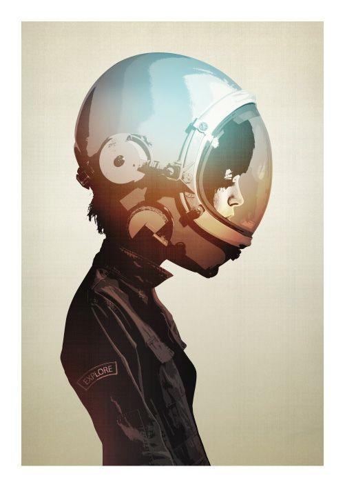 .mujer espacial