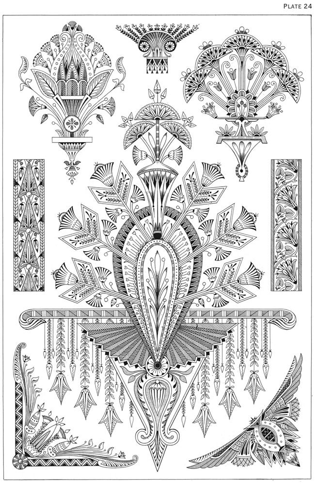 welcome to dover publications egyptian motifs in the art deco style inspiration for sternum. Black Bedroom Furniture Sets. Home Design Ideas