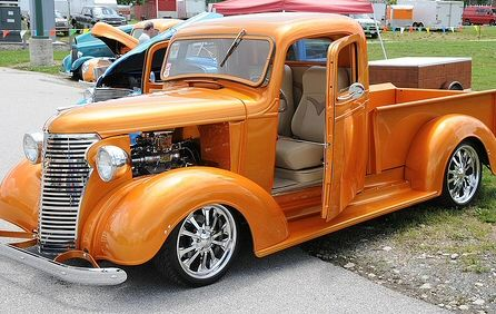 Suicide doors: a popular modification for many hot rods and street rods..