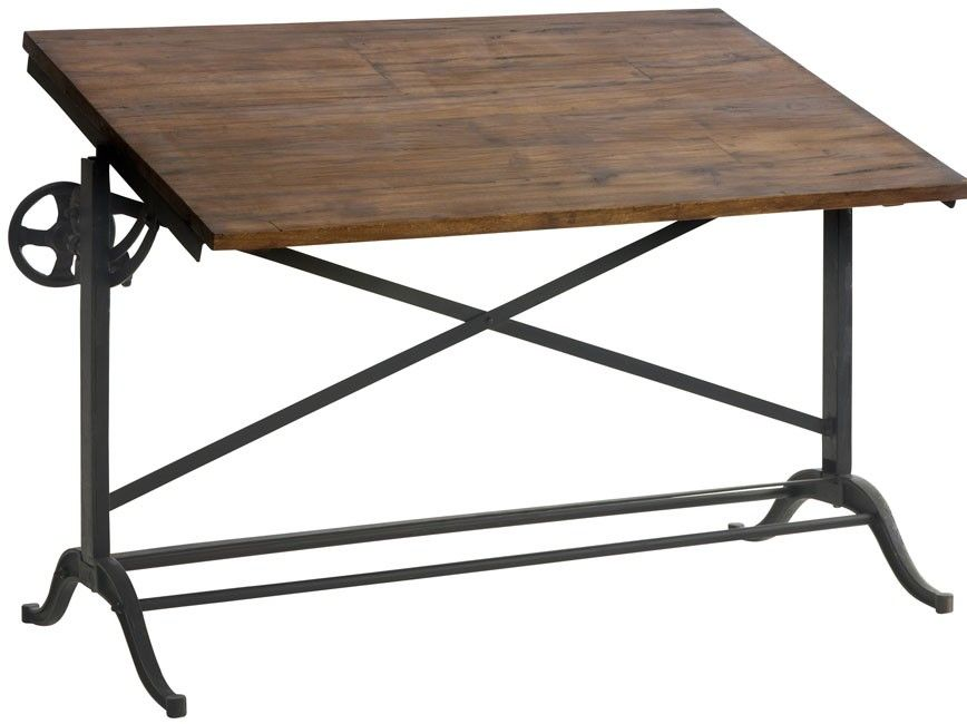 Draftsman Iron Desk