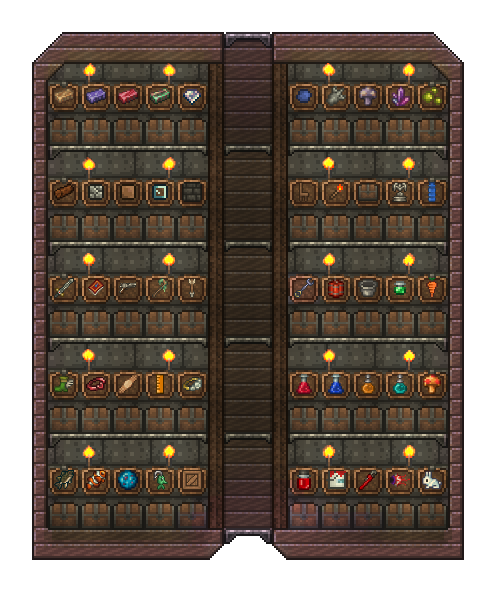 The Ultimate Sorting System Terraria House Ideas Terraria House