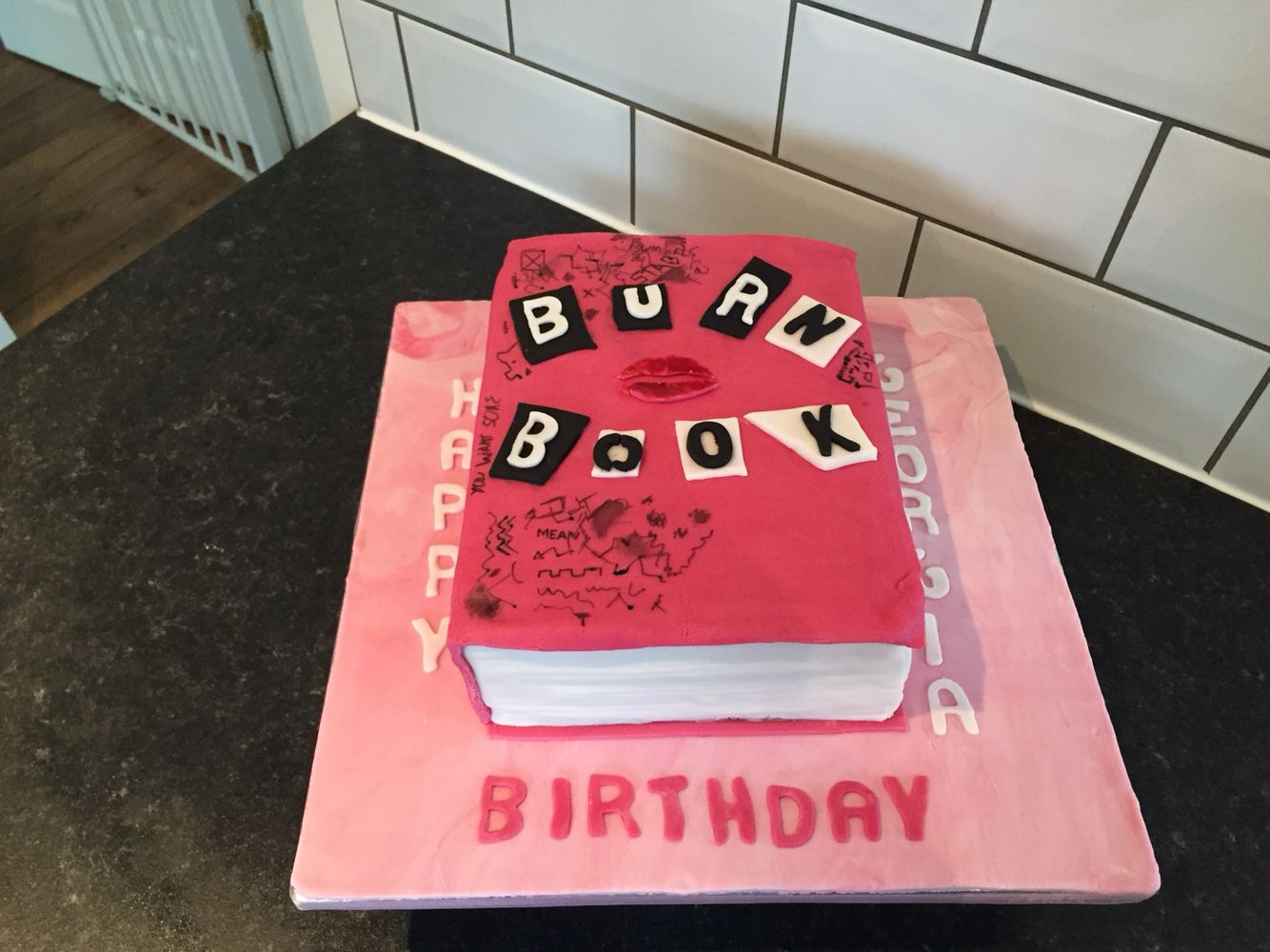 Mean Girls Birthday Cake This Was A Joint Effort With My 15 Year