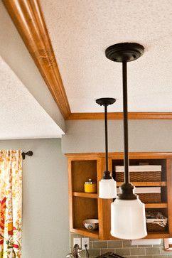 Yellow Bedroom Paint Against Dark Wood Trim Sw