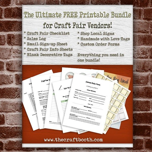 Free Craft Show Printables in 2018 Sew  Sell Pinterest Craft
