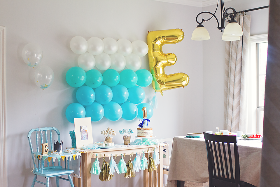 Behind The Camera And Dreaming Ezras Balloon Themed First Birthday Party