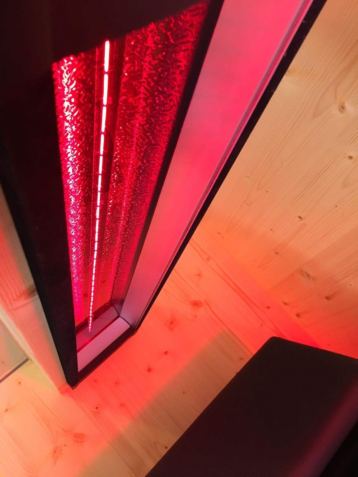 Rotlichtstrahler IPX18 für die Sauna und Infrarotkabine