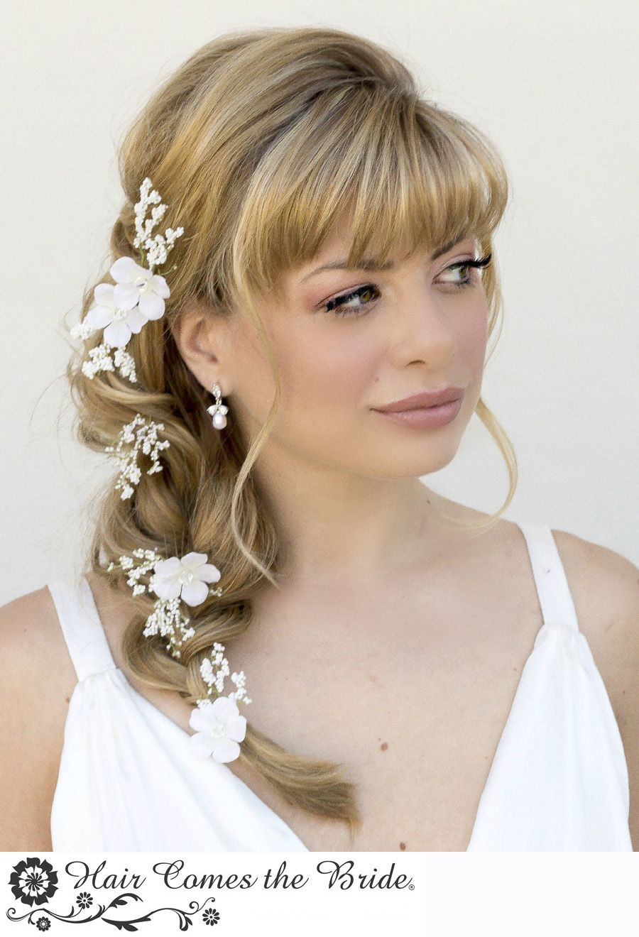 one style ~ 8 ways..ssy side braid with bangs   styled