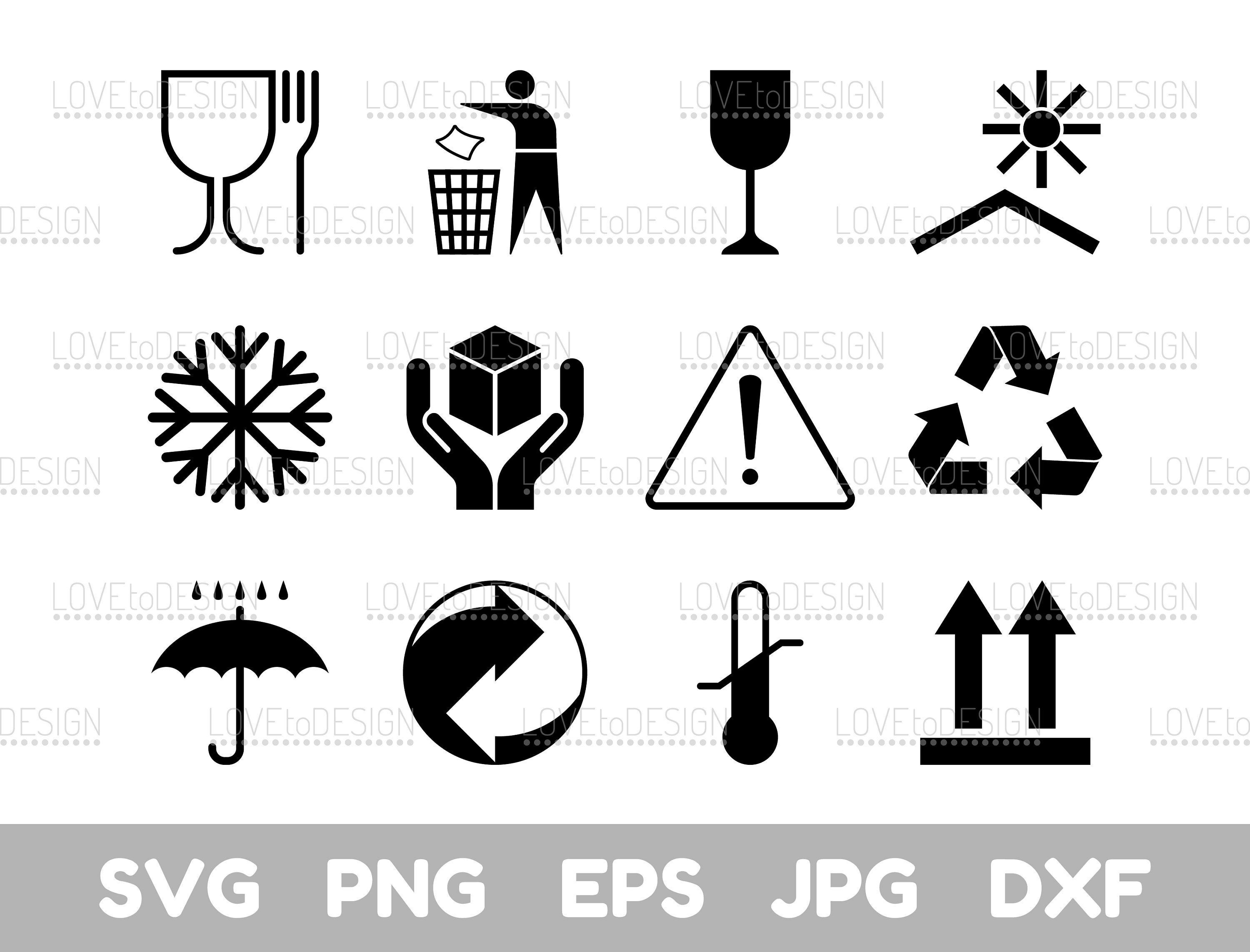 Post Symbols, Post Symbols Svg, Packaging Symbols Svg