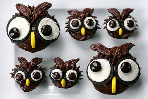 Owl cupcakes Cookies Pinterest Owl Food and Cake