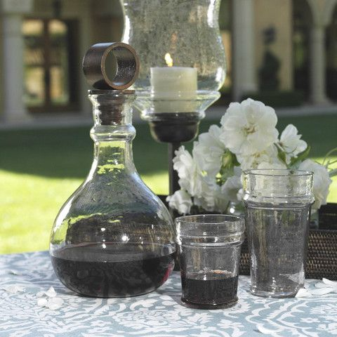 Artisan Hammered Glassware
