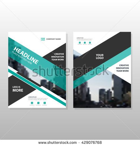 Green black annual report Leaflet Brochure Flyer template design - business presentation