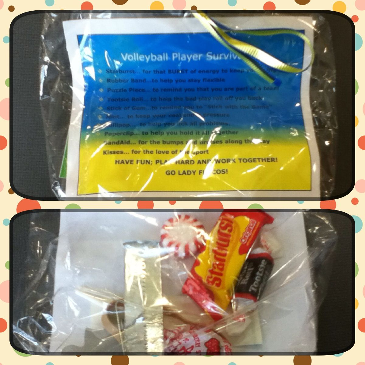 Volleyball Player Survival Kit Cutest Idea Ever Thanks Amanda Volleyball Snacks Volleyball Diy Volleyball Gifts