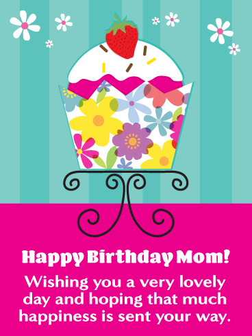 A Lovely Day Happy Birthday Card For Mother Mothers Are Special
