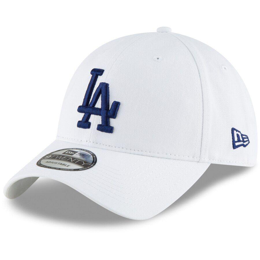 Men S Los Angeles Dodgers New Era White Core Classic Secondary 9twenty Adjustable Hat La Dodgers Cap Dodgers Dodgers Outfit
