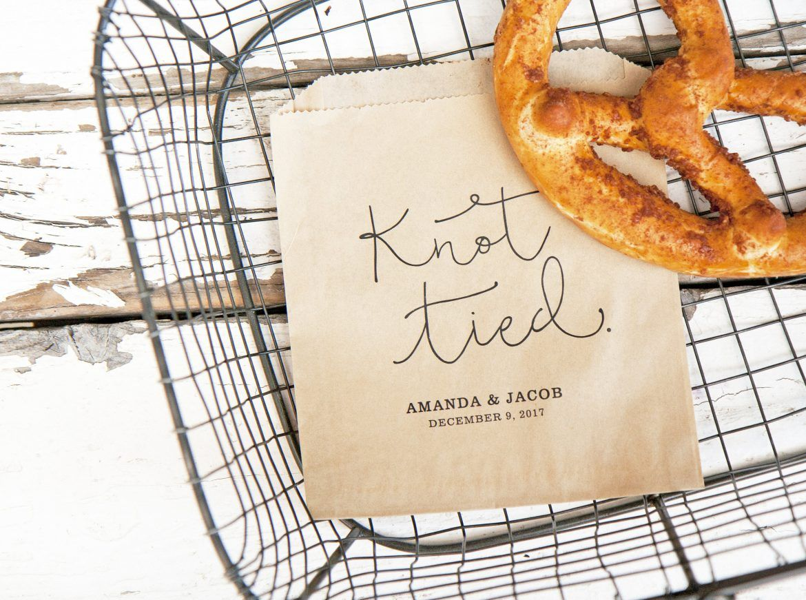 Cute pretzel wedding favors for \