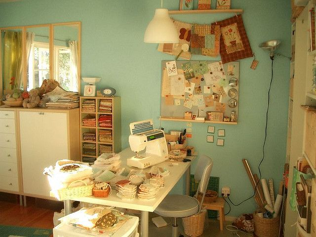 My Craftroom by PatchworkPottery, via Flickr
