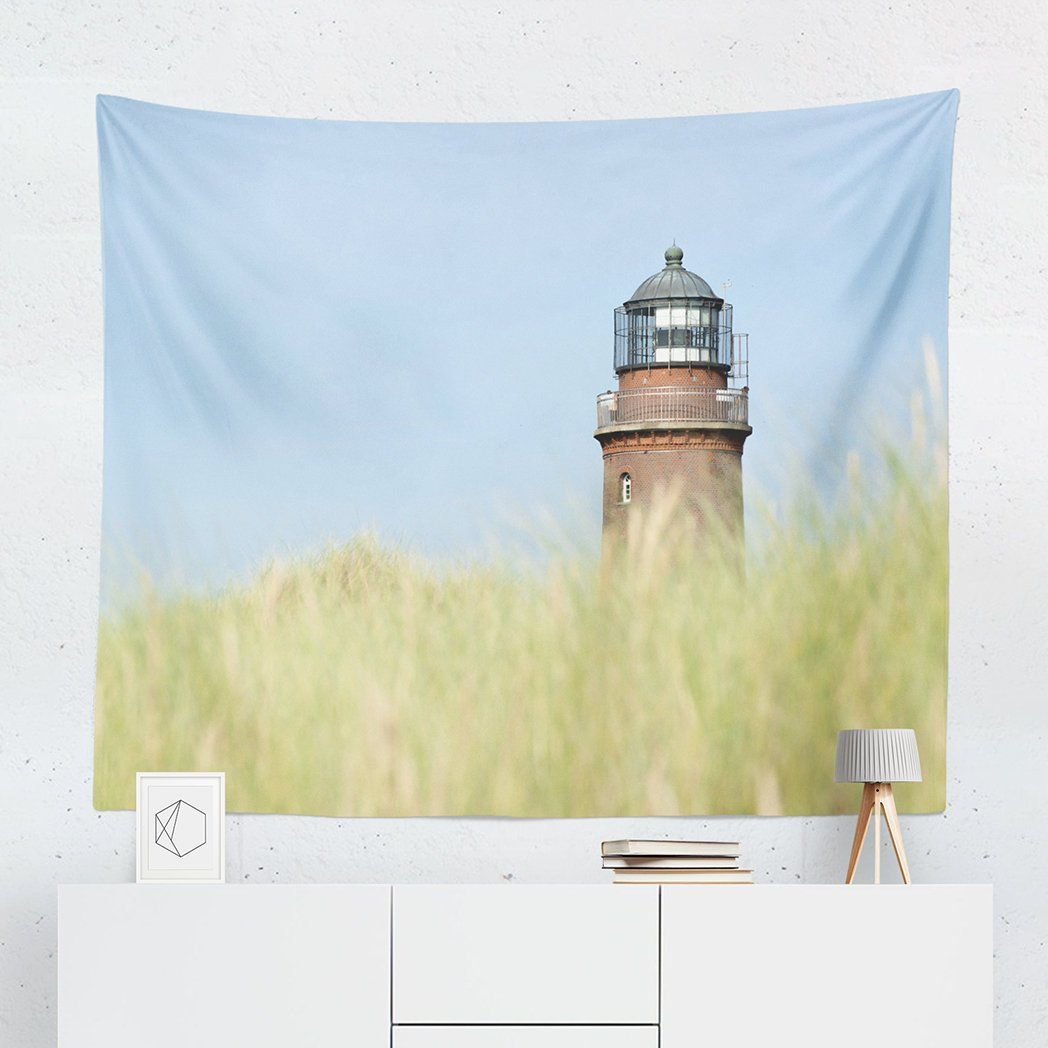 Lighthouse Tapestry | Nature Tapestry | Dorm Decor | Lighthouse Wall ...