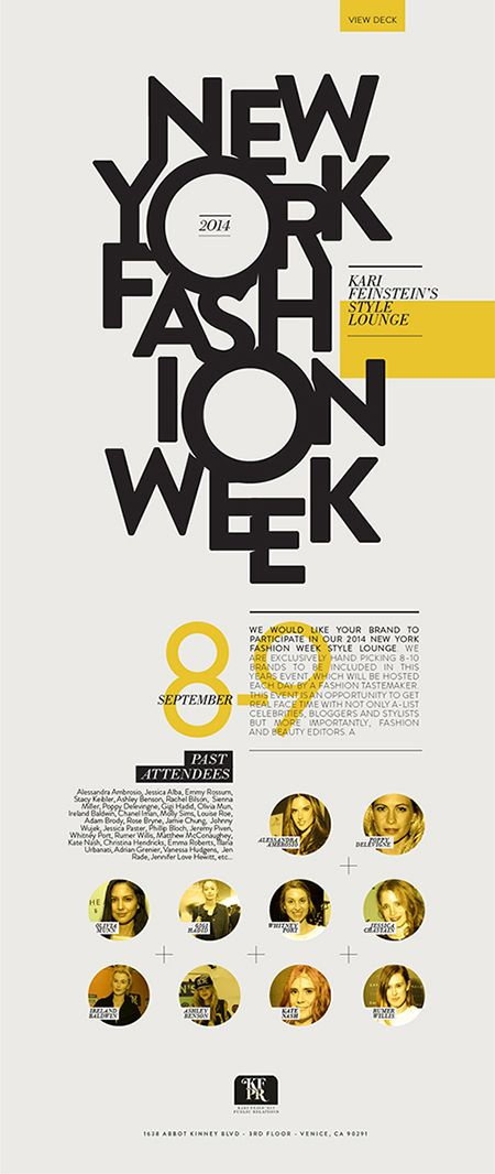 New York Fashion Week Digital Flyer Fashion Poster Design Typography Layout Typography Poster Design