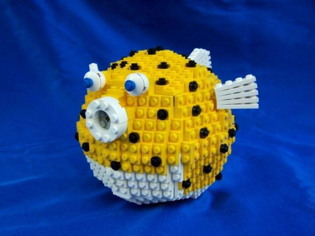 Pufferfish out of legos