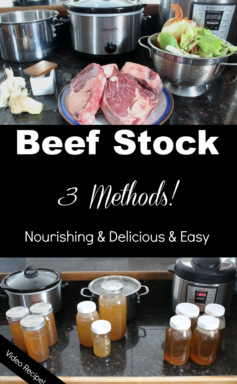 Instant Pot Beef Stock