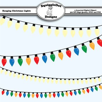 Hanging Christmas Lights Clip Art Clipart