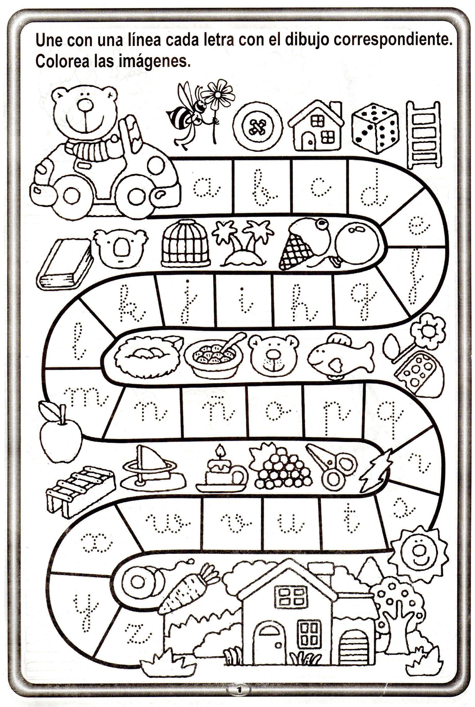 abecedario y trazos001 | lectoescritura | Pinterest | Abecedario ...